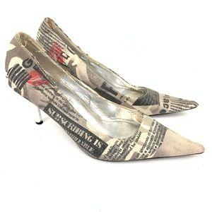 Steve madden Newsprint Pointy Heel 7
